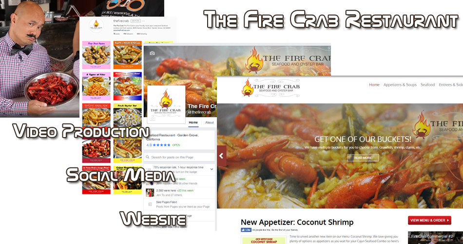 Fire Crab Restaurant Internet Marketing Orange County OC Garden Grove Website Development Design