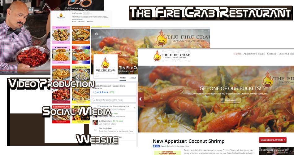 Fire Crab Restaurant Internet Marketing Orange County OC Garden Grove Website Development Design