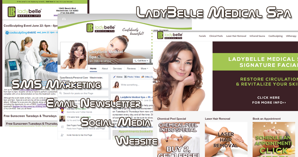 LadyBelle Medical Spa Orange County OC Website Design Internet Marketing
